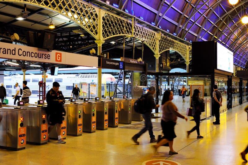 Uroczysty Concourse, Środkowa stacja kolejowa, Sydney, Australia obrazy royalty free