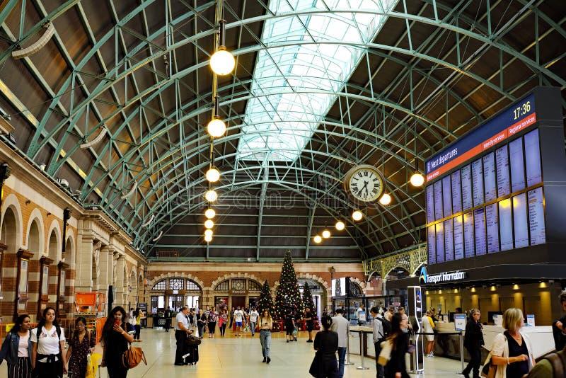 Uroczysty Concourse, Środkowa stacja kolejowa, Sydney, Australia zdjęcia royalty free