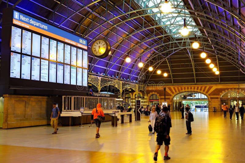 Uroczysty Concourse, Środkowa stacja kolejowa, Sydney, Australia zdjęcie royalty free