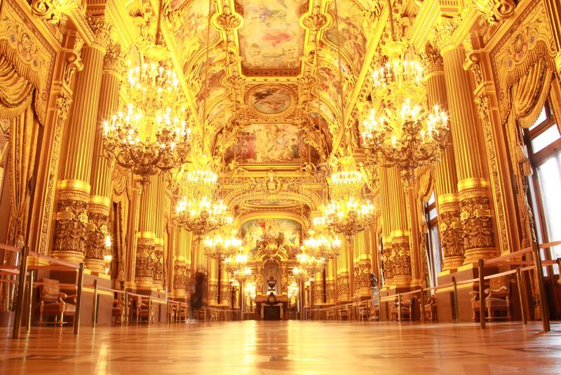 Uroczysty foyer palais garnier fotografia royalty free