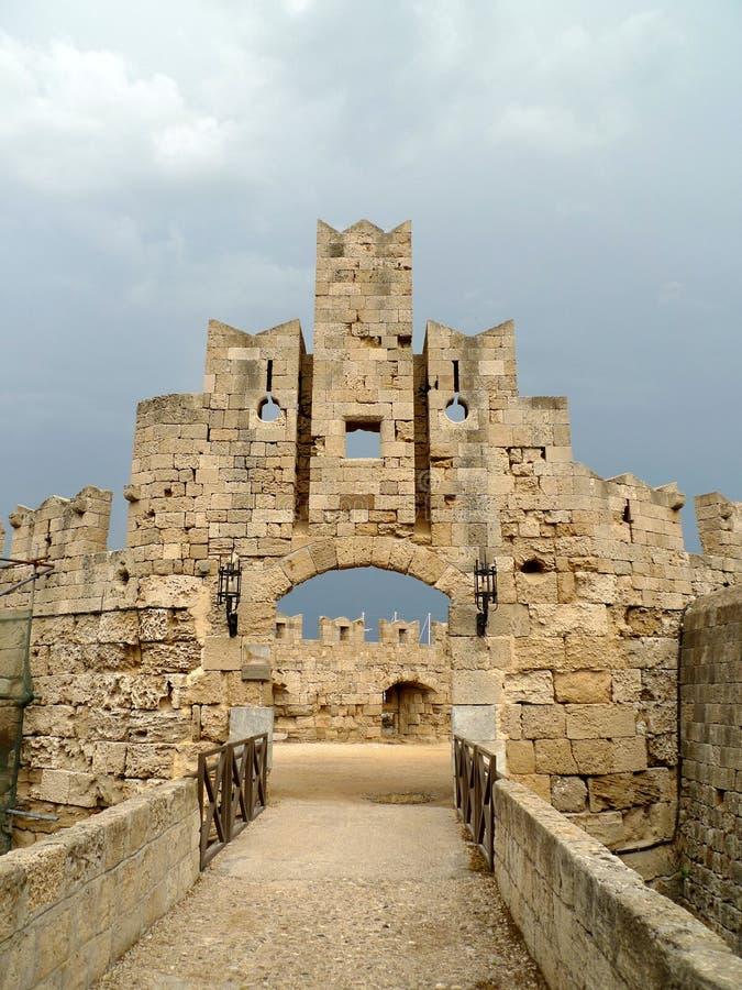 uroczysty Greece ćwiczy pałac Rhodes zdjęcie stock