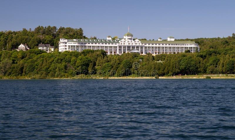 Uroczysty hotel Na Mackinaw wyspie Michigan obraz stock
