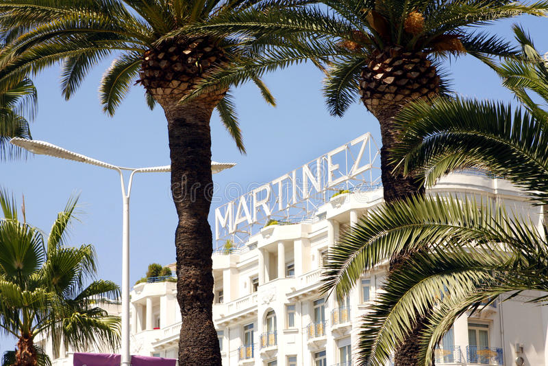 Uroczysty Hyatt Cannes HÃ'tel Martinez fotografia royalty free