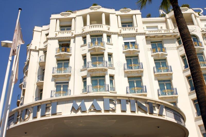 Uroczysty Hyatt Cannes HÃ'tel Martinez obrazy royalty free