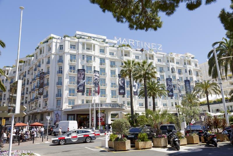 Uroczysty Hyatt Cannes hotel Martinez obraz stock