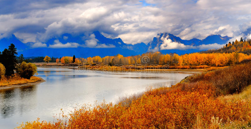 uroczysty jesień teton obrazy stock