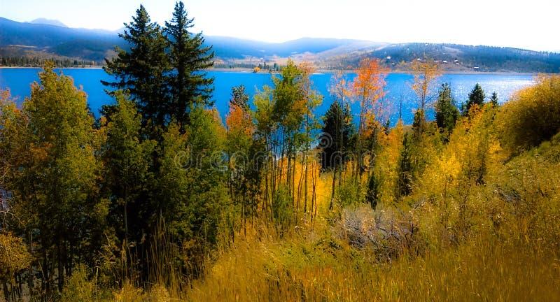 Uroczysty jezioro obrazy royalty free
