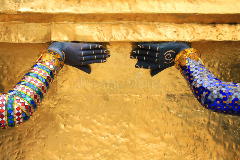 uroczysty kaeo pałac phra wat obraz stock