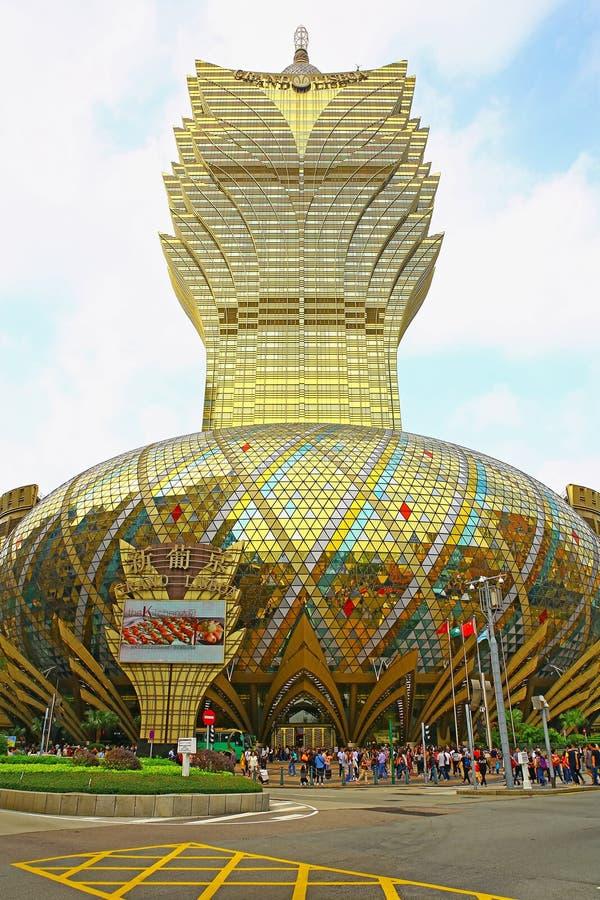 Uroczysty Lisboa kasyno, Macau obrazy royalty free