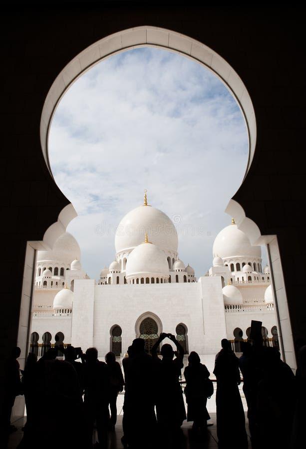 Uroczysty meczet Adu Dhabi zdjęcie royalty free