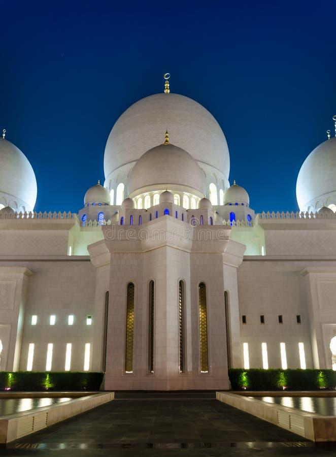 Uroczysty meczet w Abu Dhabi, UAE zdjęcie stock