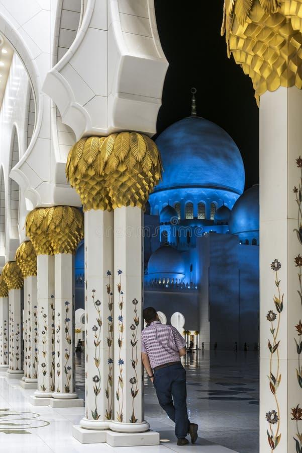 Uroczysty meczet w Abu Dhabi, UAE obrazy royalty free