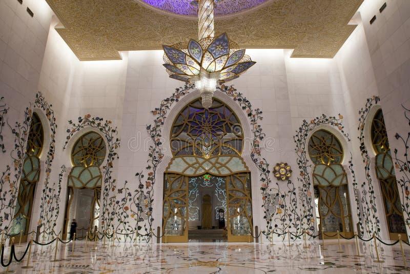 Uroczysty Meczetowy wnętrze zdjęcie royalty free
