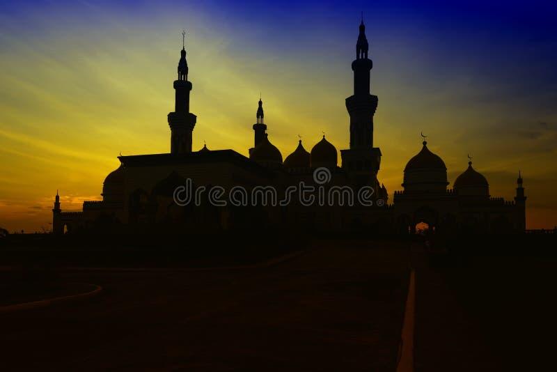 Uroczysty Meczetowy zmierzch zdjęcia royalty free