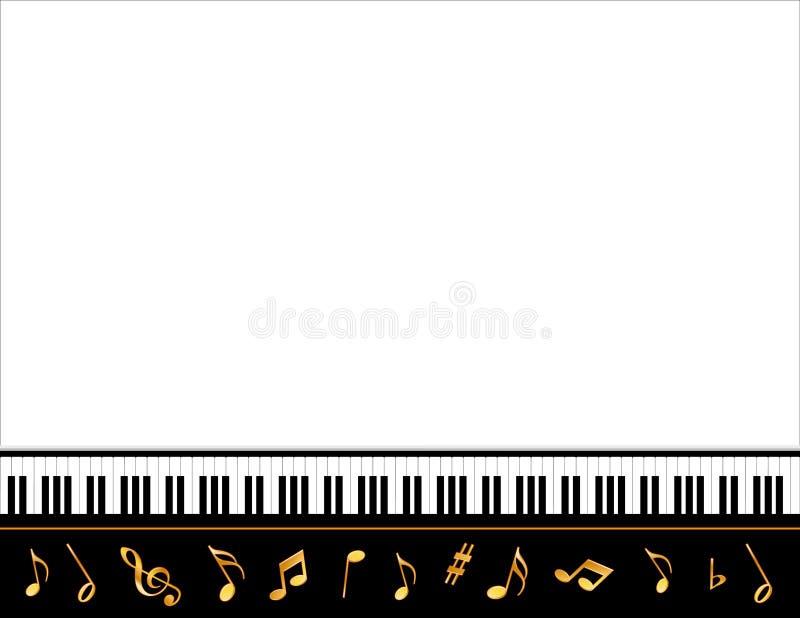 uroczysty muzyczny fortepianowy plakat ilustracja wektor