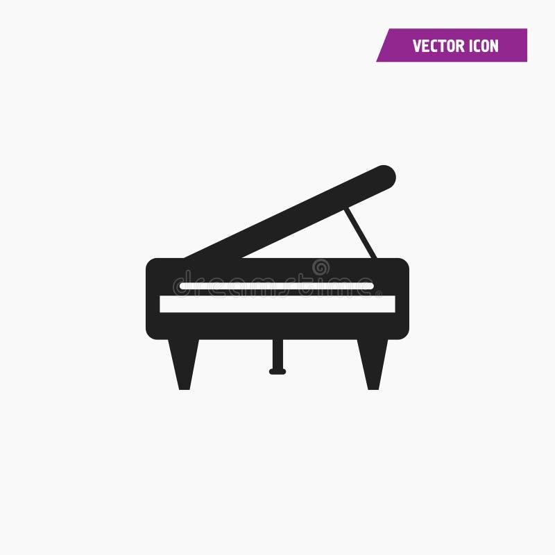 Uroczysty pianino, Królewska ikona royalty ilustracja