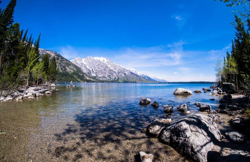 Uroczysty Teton - jezioro zdjęcia royalty free