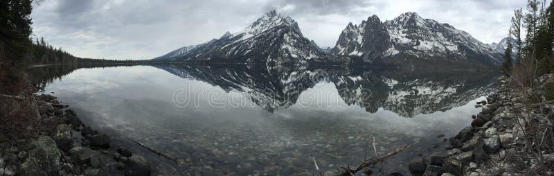 Uroczysty Teton panoramiczny fotografia stock