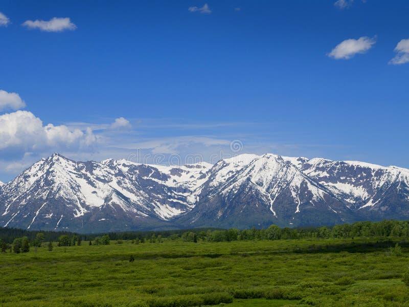 Uroczysty Teton park narodowy jest Stany Zjednoczone parkiem narodowym lokalizować w północno-zachodni Wyoming, U S obraz royalty free