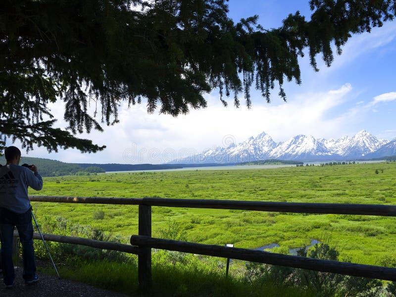 Uroczysty Teton park narodowy jest Stany Zjednoczone parkiem narodowym lokalizować w północno-zachodni Wyoming, U S zdjęcie stock