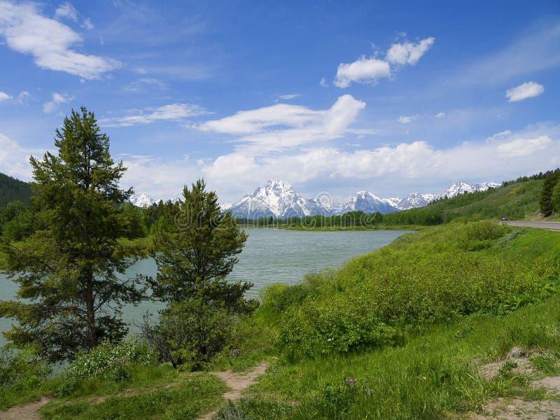 Uroczysty Teton park narodowy jest Stany Zjednoczone parkiem narodowym lokalizować w północno-zachodni Wyoming, U S fotografia royalty free