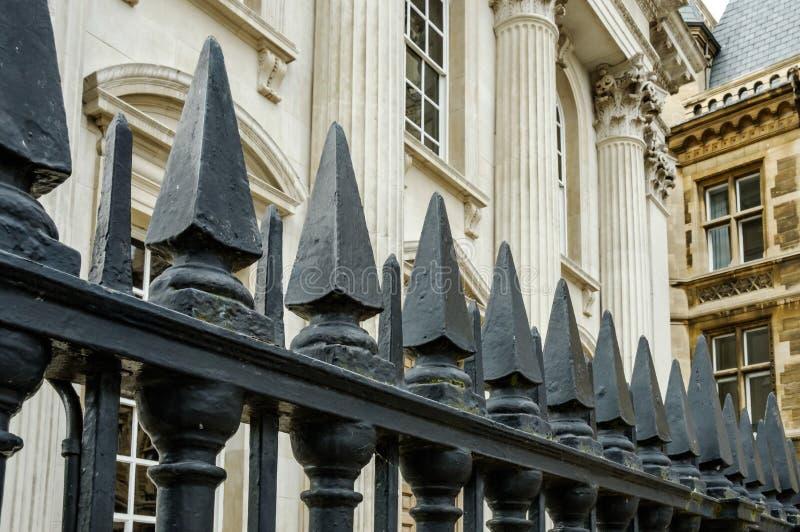 Uroczysty widok elita szkoła wyższa w Cambridge i uniwersytet, Zjednoczone Królestwo fotografia stock