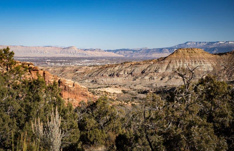 Uroczysty złącze Kolorado, góra Garfield i Książkowa falezy góra, obraz royalty free