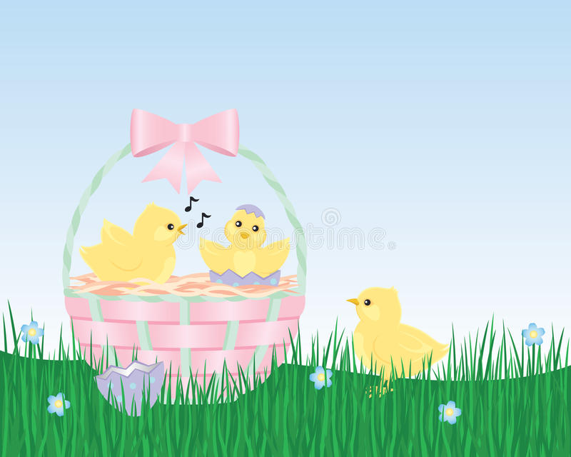 urodzeni kurczątka Easter ilustracja wektor