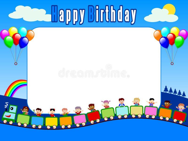 urodzin 2 ramowego zdjęcie ilustracji