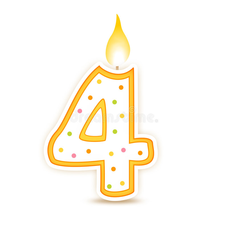 urodzin 4 candle royalty ilustracja