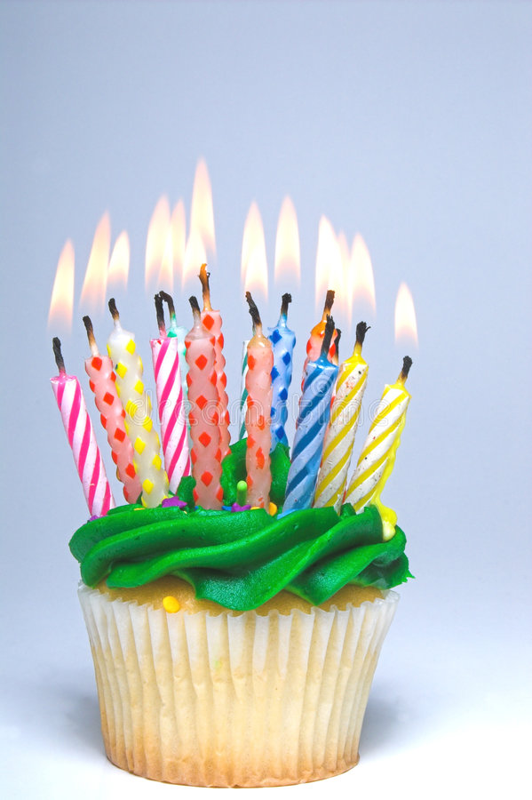 Urodzinowa Babeczka fotografia stock
