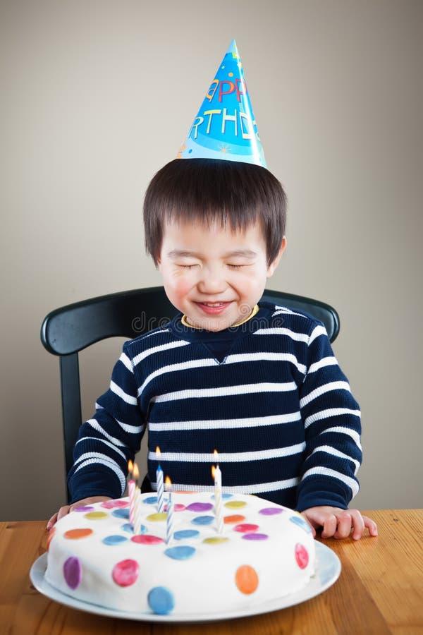 urodzinowa chłopiec fotografia royalty free