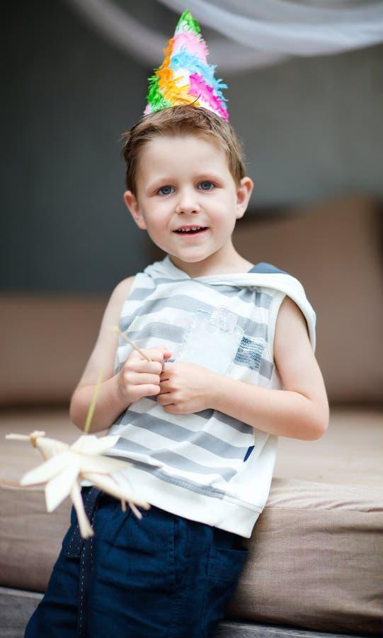 urodzinowa chłopiec zdjęcia royalty free