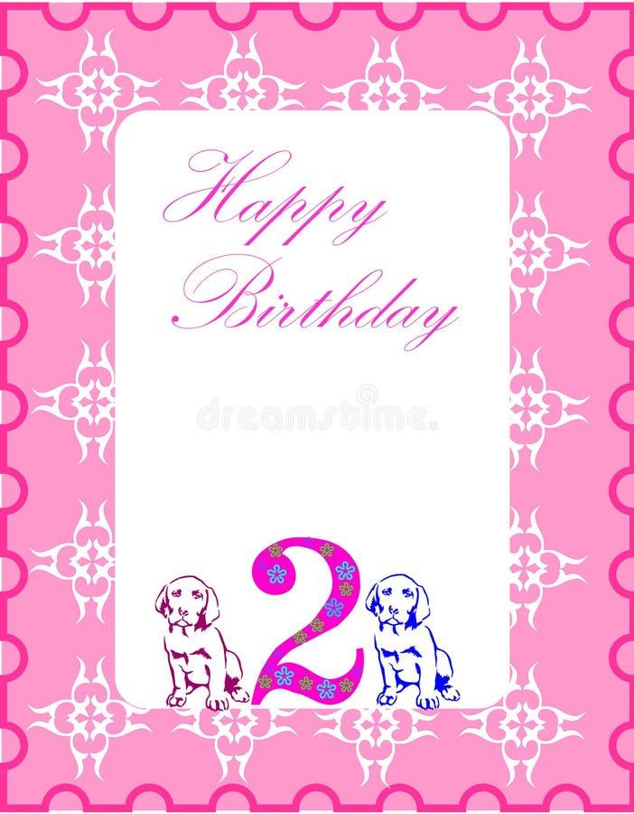 urodzinowa karta royalty ilustracja