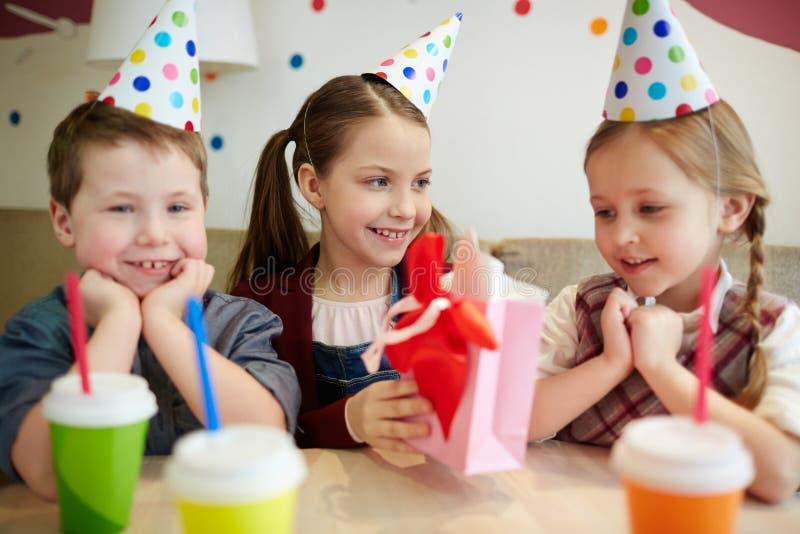 Urodzinowa niespodzianka zdjęcie royalty free