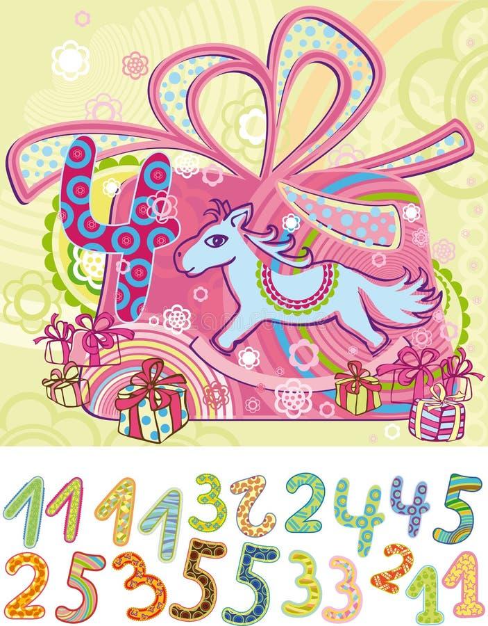 urodzinowa pocztówka royalty ilustracja