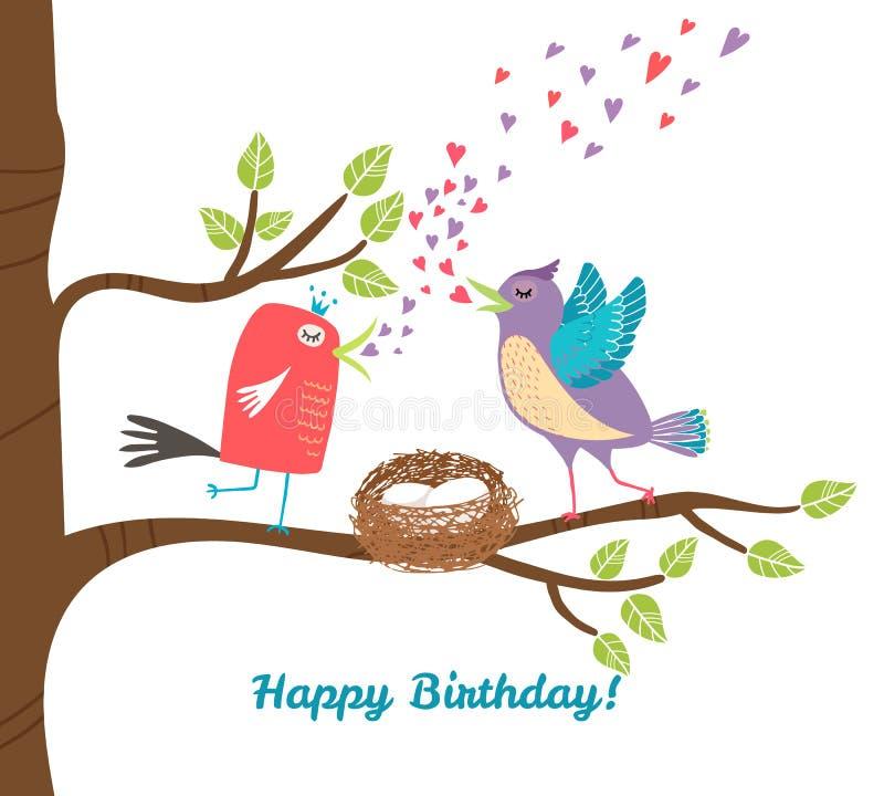 Urodzinowa pocztówka ilustracja wektor