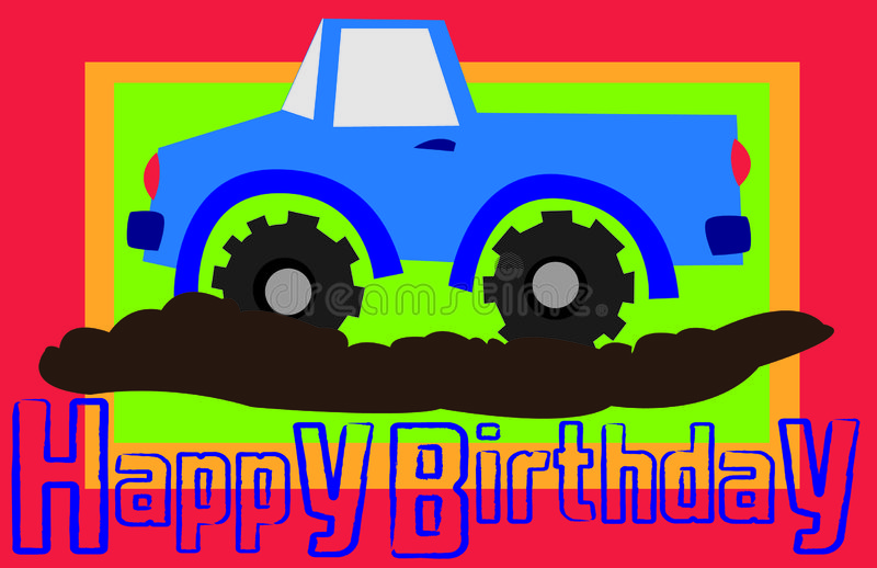 urodzinowa szczęśliwa ciężarówka fotografia stock