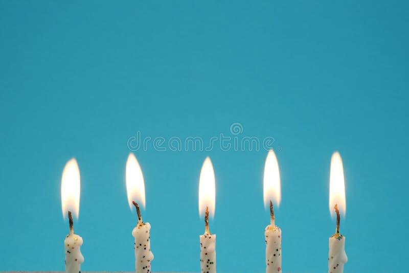 Urodzinowe świeczki obrazy stock