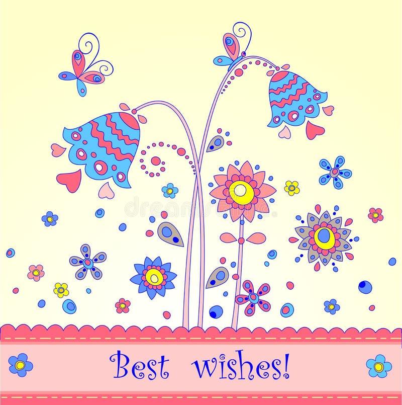 urodzinowego powitania szczęśliwi pocztówki dwa warianty ilustracji
