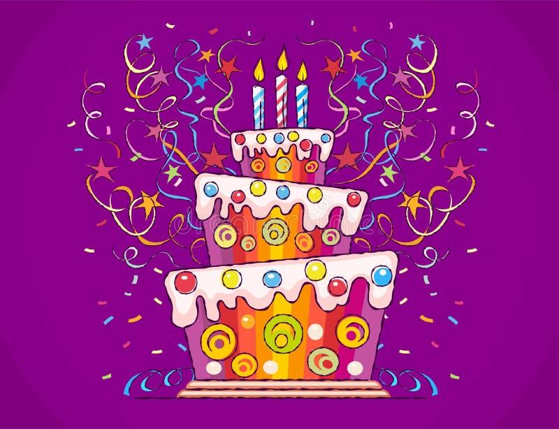 urodzinowego torta świeczek ilustraci wektor ilustracja wektor