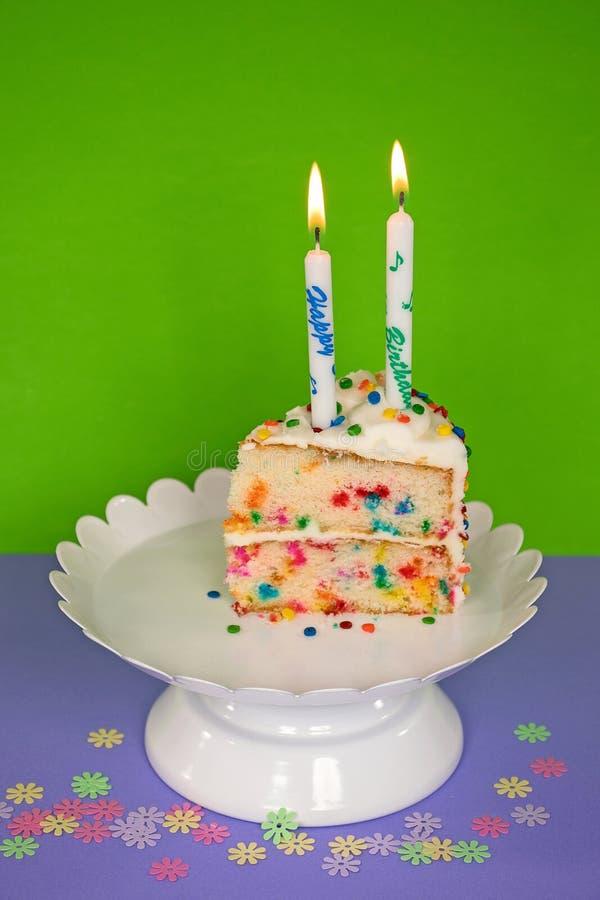 urodzinowego torta świeczek ilustraci wektor obrazy royalty free