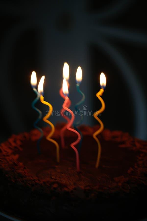 urodzinowego torta świeczek ilustraci wektor zdjęcie stock