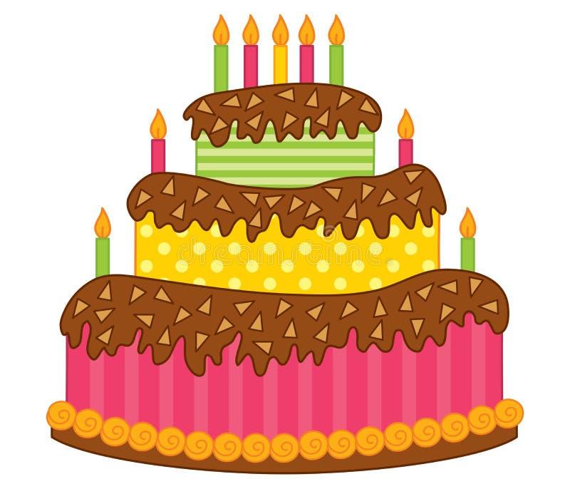 urodzinowego torta świeczek wektor ilustracji