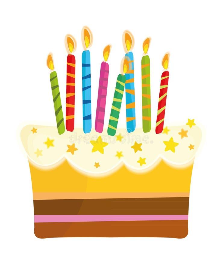 urodzinowego torta świeczki ilustracji