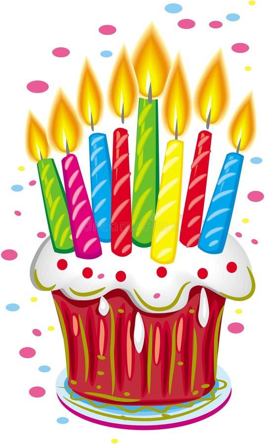 urodzinowego torta świeczki royalty ilustracja