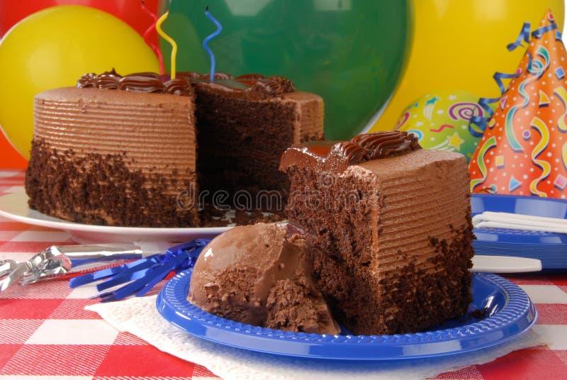 urodzinowego torta plasterek zdjęcia stock
