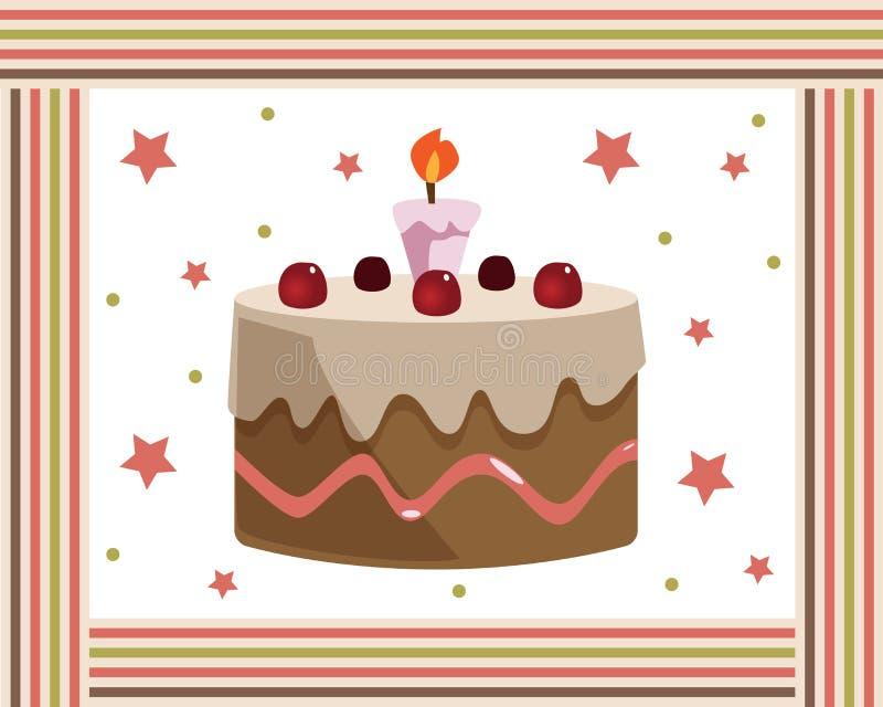 urodzinowego torta rama royalty ilustracja