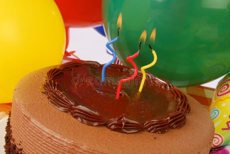 urodzinowego torta zakończenie urodzinowy zdjęcie royalty free