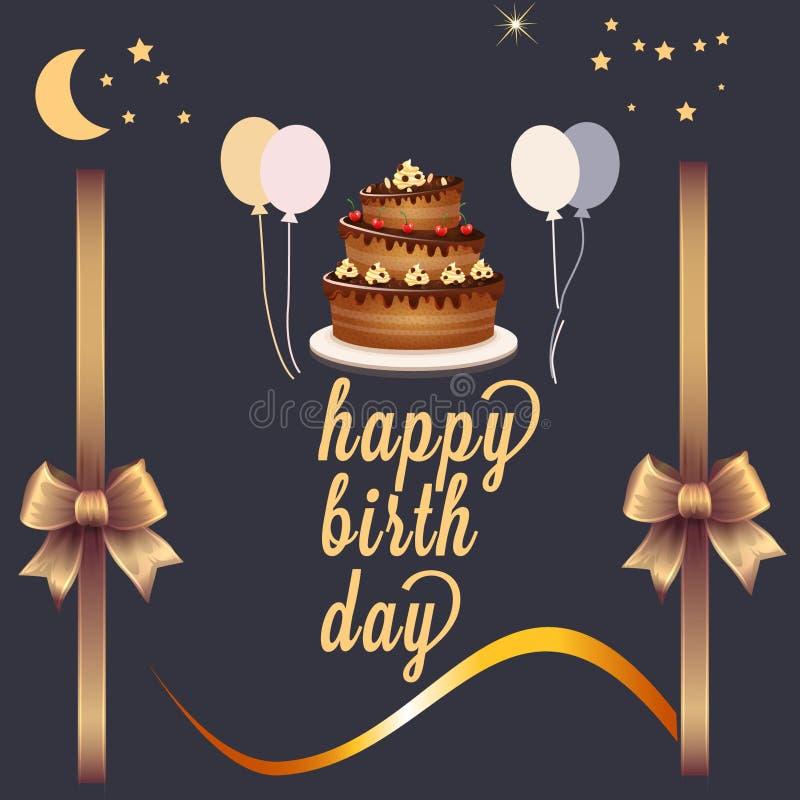 urodzinowej karty śliczny szczęśliwy zdjęcie royalty free